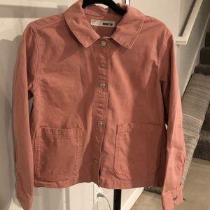 TOPSHOP Dusty Pink Chore Jacket